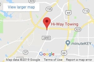 Hi-Way Towing on Google Maps. Tap or click to go to map page.
