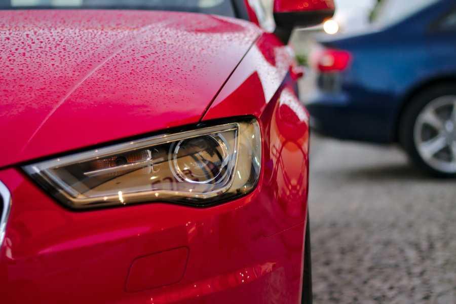 Dimmed car headlight
