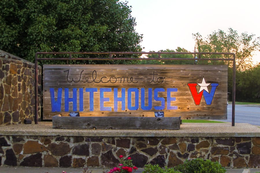 Whitehouse Texas Sign